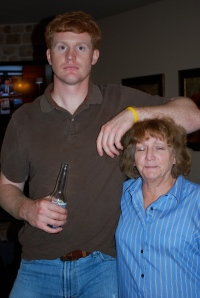 Levi is 6'4, My Gram is a stout 5'0....So Cute!